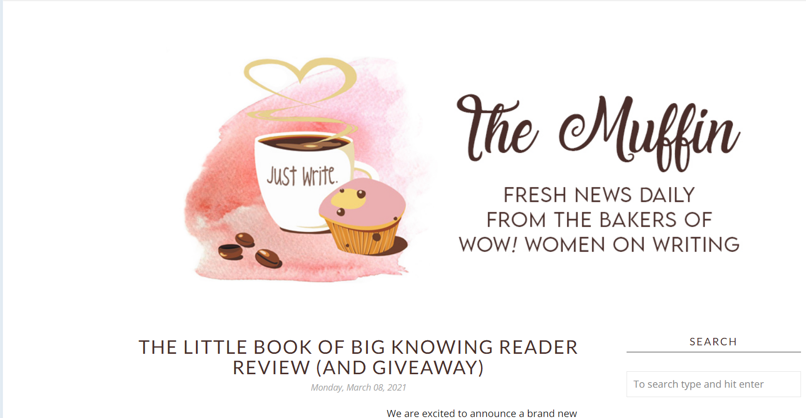 WOW! Women on Writing Reader Review Event